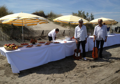 séminaire en camargue buffet plage