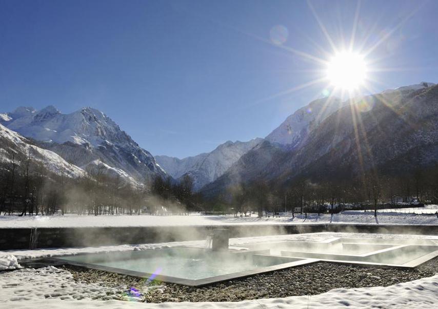 séjour incentive Pyrénées bains exterieurs