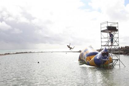 team building blob jump paysage