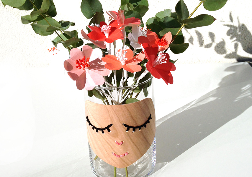 team building création objet vase