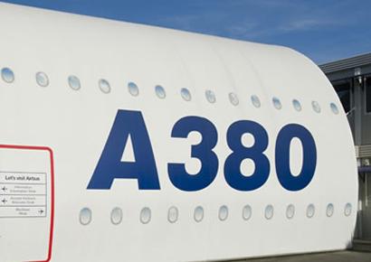 Visite de la maquette de l'A380 à Blagnac